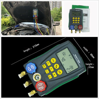 Digital Auto Car Air Conditioning Refrigerant System Digital Manifold Gauge HVAC