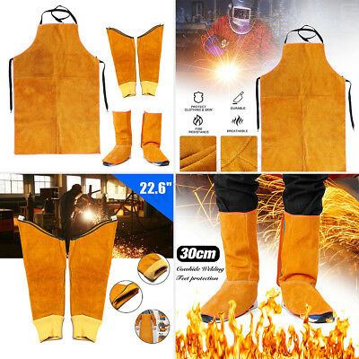 Various Cowhide Leather Welding Cover Feet Sleeve Apron Protection Resistant