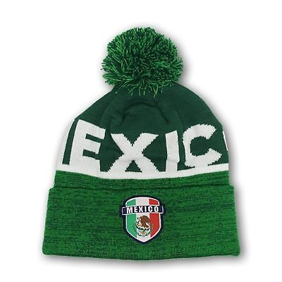 4fbe836410d Mexico Beanie Soccer Skull Cap hat FMF National Team Jersey Soccer Winter  001