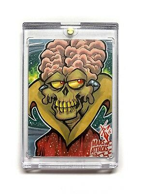 Mars Attacks Occupation Sketch Card by Ben Glendenning