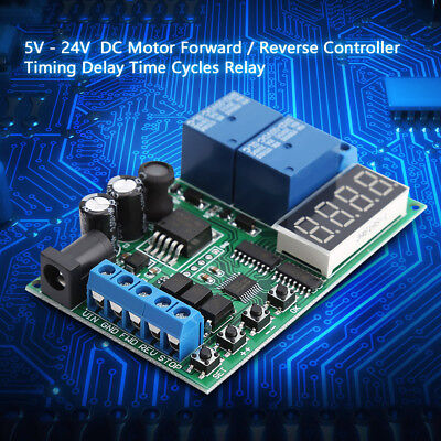 5V-24V Motor Forward / Reverse Controller Timing Delay Time Cycles Relay Module