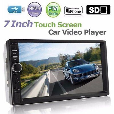 "7"" Double 2 DIN Car MP5 Player Bluetooth LCD Touch Screen Stereo Radio FM USB"