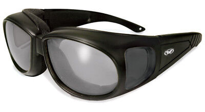 Global Vision Eyewear Outfitter 24 Photochromic Black Sunglasses with Clear Lens