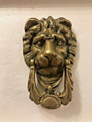 VTG Lion Head Heavy Brass Door Knocker 7 Inches By 4 Inches Estate Fresh L@@K