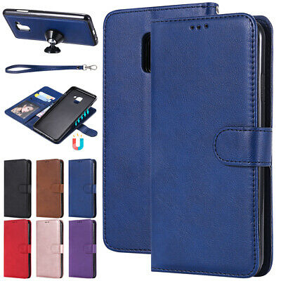 For Samsung Galaxy Phones Case Magnetic Detachable Leather Cover Car Card Holder