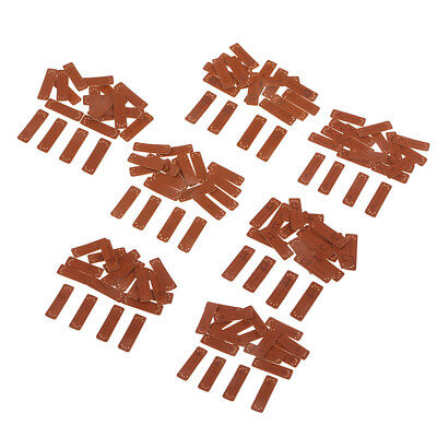 20pcs PU Leather Label Handmade Craft Embossed Tag DIY Sewing Embellishments