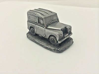 """Land Rover Series 3 86"""" WB ref114 Pewter Effect 1:92 Scale model car"""