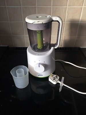 Philips Avent Combined Baby Weaning Food Steamer & Blender Processor