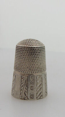 Unusual Hallmarked Silver Sewing Thimble -May Interest James Fenton Collectors ?