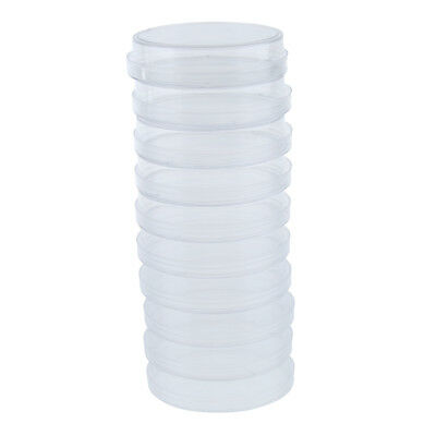10 Pcs Plastic Petri Dishes Culture Dish with Lid, Hard, Crystal Clear 75mm