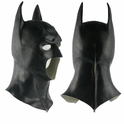 Batman The Dark Knight Rises Kapuze Cowl Halloween Latex Maske Masken Mask Adult