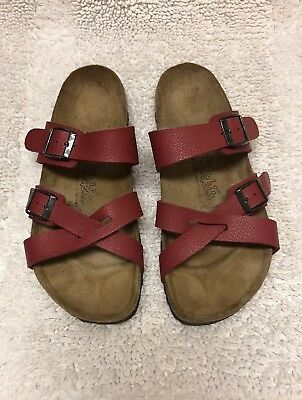 01ff5e83f86b Birkenstock Birkis Womens Nepal Sandals Size 8 Criss Cross Red