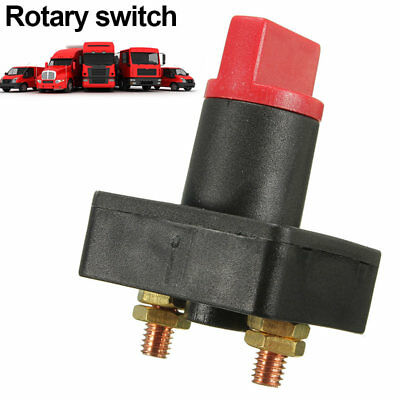 Battery Isolator Disconnect Power Cut Off Kill Selector Switch for Boat Car Van