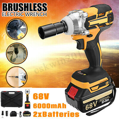 68V 6000mA Brushless Cordless Power Driver Impact Wrench Li-Ion Battery Charger
