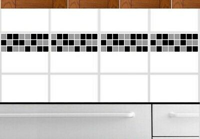 Mosaic Border Tile Self Adhesive Grey