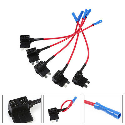 Car Add Circuit Tap Piggy Back Standard Blade Fuse Box Holder Kit ATO ATC Hot