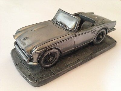 Triumph TR4 A IRS Pewter Effect 1.32 Scale Model Car Made In Sheffield