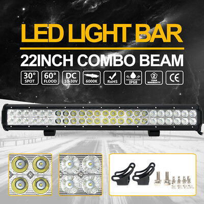 "240000LM  22"" LED Work Light Bar Flood Spot Combo offroad Driving Truck 6000K AU"