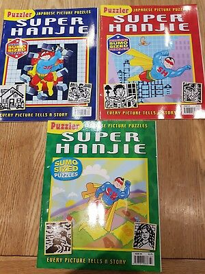 Puzzler Super Hanjie Japanese picture puzzle book issues 82 83 84 FIENDISH logic