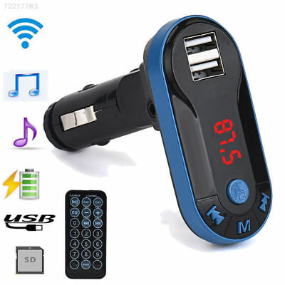 Wireless Bluetooth Car Kit FM Transmitter Radio MP3 Player 2 USB Charge + Remote