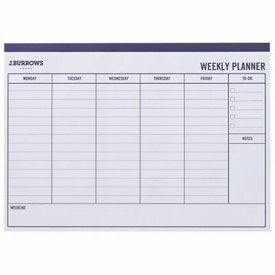 J.Burrows A4 Undated Week to View Planner 20 Sheet