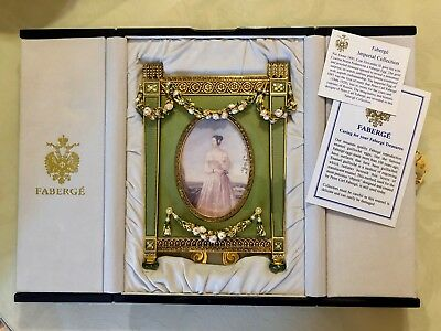 Rare FABERGE Imperial Countess Picture Frame Green