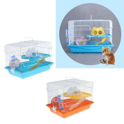 Hamster Mice Cage Small Animals Rat 125ml Water Bottle House Silent Wheel Mouse