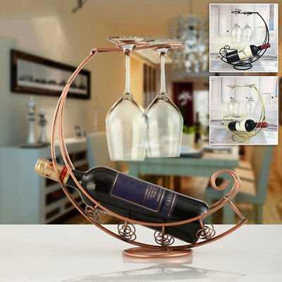 Iron Wine Rack Bar Glass Holder Kitchen Holder Bottle Decoration Home Room