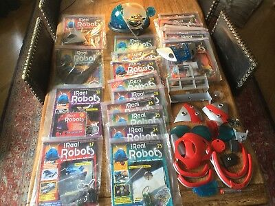 Ultimate Real Robots Magazine 1-40 Part-built Unit And Various Loose Accessories