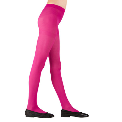 Childs Neon Pink Tights 3 Sizes for Ages 4-6, 7-10, 11-14 years Dance Book Week