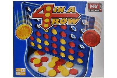Connect 4 In A Row Four In A Line Traditional Board Game Family Christmas Fun