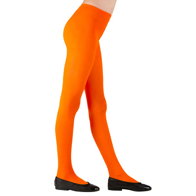 Childs Orange Tights 3 Sizes for Ages 4-6, 7-10, 11-14 years Dance Book Week