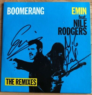 Emin Feat Nile Rodgers - Boomerang - Signed By Both Artists CD The Remixes