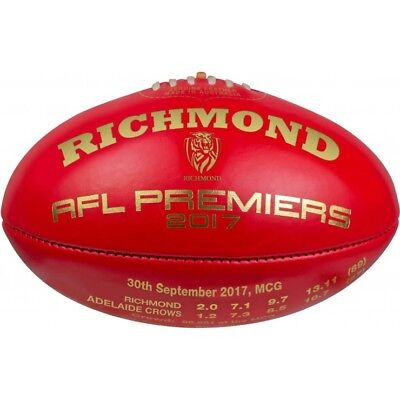 Limited Edition AFL Richmond Tigers 2017 Sherrin Football signed by Hardwick