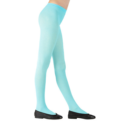 Childs Sky Blue Tights 3 Sizes for Ages 4-6, 7-10, 11-14 years Dance Book Week