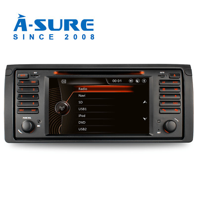 "7"" Autoradio BMW 5er E39 X5 E53 M5 GPS Sat Navi VMCD Can Bus DVR/DTV-IN DAB+ DVD"