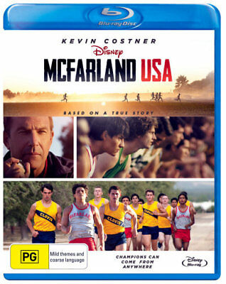McFarland USA Blu-ray Region B (New)!