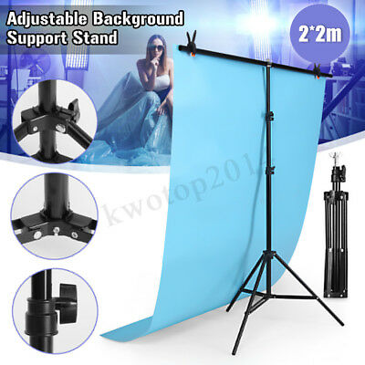 2*2m  Adjustable Background Support Stand Photo Video Backdrop Kit Photography