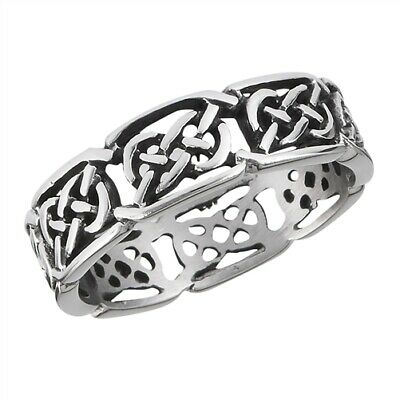 Stainless Steel Celtic Weave Band Ring - Free Gift Packaging