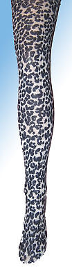 Black White Leopard Print Girls Tights 7 8 9 10 11 12 New fancy dress opaque