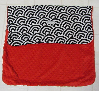 Carseat Canopy Solomon Print For Baby Carrier Red Minky Dot Interior Black White