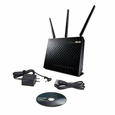 Asus RT-AC68U AC1900 1900Mbps Dual Band Smart WiFi Wireless Gigabit Cloud Routzw