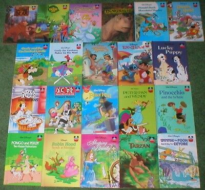 21 Disney's WONDERFUL WORLD OF READING Children's Books Lot 4 Some Vintage