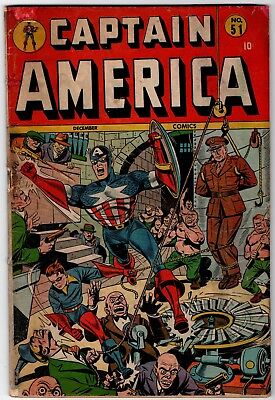 Captain America Comics #51  G 2.0 1945 Timely
