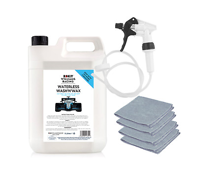 Williams Waterless Wash and Wax 5L with Long Hose Trigger and 4 x Microfibre