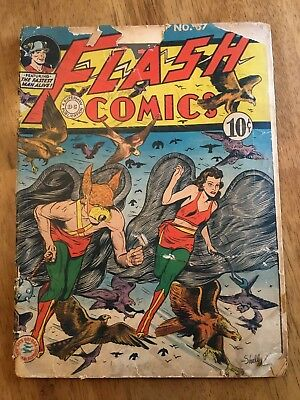 1943 Flash Comics #37 Golden age DC