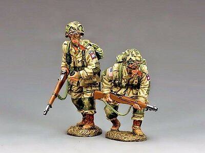 """KING & COUNTRY DD288-1 WWII D-DAY """"U.S. 82nd PARATROOPERS MOVING FORWARD..."""" MIB"""