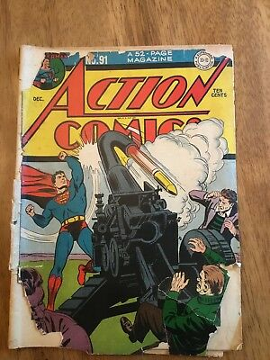 ACTION COMICS #91 1945 No Back Cover