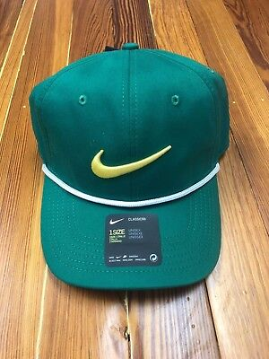 7a4084dac5af2 NEW NIKE Limited Edition Masters AeroBill Classic99 Green Golf Rope Hat RARE