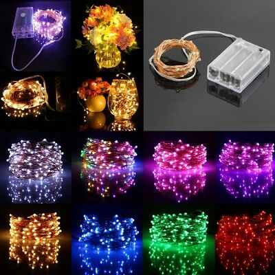 2-10M Battery Operated LED Fairy String Light Christmas Holiday  Party Decor